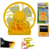 mini clip-on solar fan